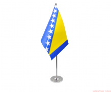 BOSNIA & HERZOGOVINA - DELUXE SATIN TABLE FLAG